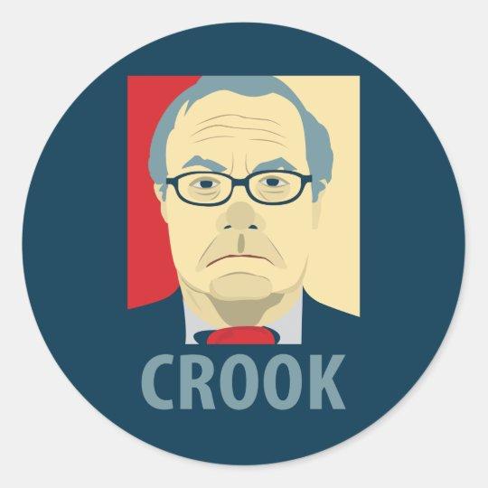 Barney Frank Hope Crook Classic Round Sticker