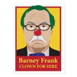 Barney Frank is a Clown Postcards