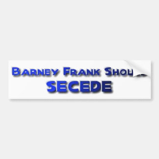 Barney Frank Secede Pegatina De Parachoque