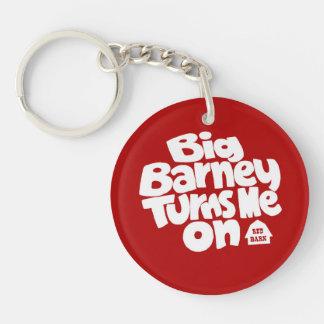Barney grande me gira llavero redondo acrílico a doble cara