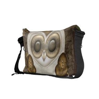 Barney la lechuza común personalizada bolsa de mensajeria