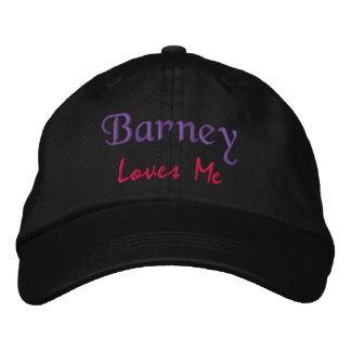 Barney Loves Me Embroidered Name Hat / Cap