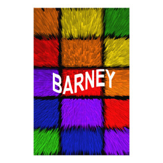 BARNEY (male names ) Stationery