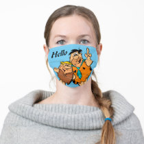Barney Rubble and Fred Flintstone Adult Cloth Face Mask