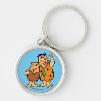 Barney Rubble and Fred Flintstone Keychain