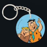 """Barney Rubble and Fred Flintstone Keychain<br><div class=""""desc"""">The Flintstones 