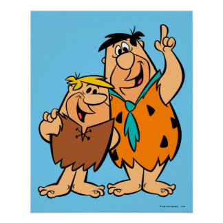 Barney Rubble and Fred Flintstone Poster