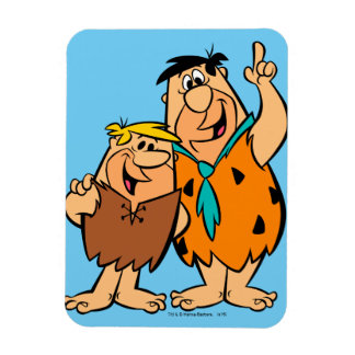 Barney Rubble and Fred Flintstone Rectangular Photo Magnet