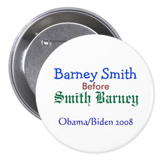 Barney Smith before Smith Barney Pinback Button