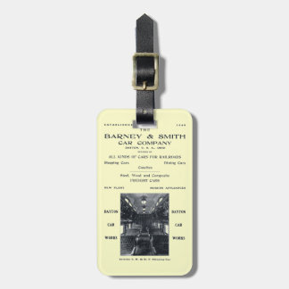 Barney & Smith Railroad Car Company 1906 Bag Tags