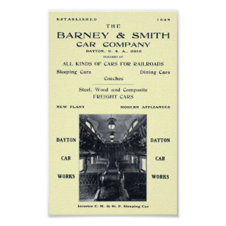 Barney & Smith Railroad Car Company  1906 Poster