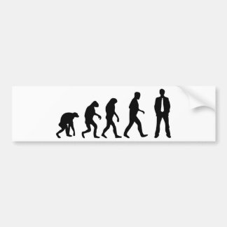 barney stinson evolution bumper sticker