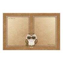 Barney The Barn Owl Notepaper Stationery