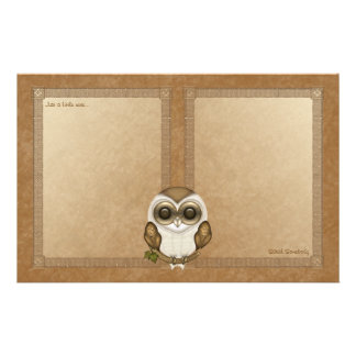 Barney The Barn Owl Notepaper Customized Stationery