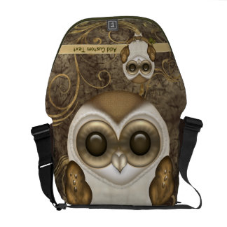 Barney The Barn Owl Personalized Messenger Bag