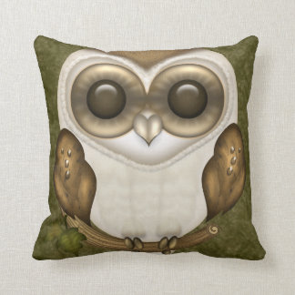 Barney The Barn Owl Throw Pillow