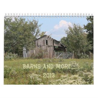 Barns and More... 2013 Wall Calendar
