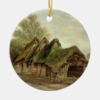 Barns at Flatford (oil on canvas) Ceramic Ornament
