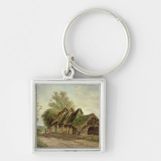 Barns at Flatford (oil on canvas) Key Chains