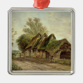Barns at Flatford (oil on canvas) Metal Ornament