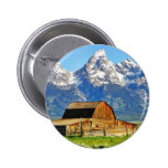 Barns Grand Tetons Mountains 2 Inch Round Button
