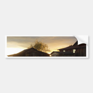 Barns in the Afternoon Sunlight Bumper Sticker