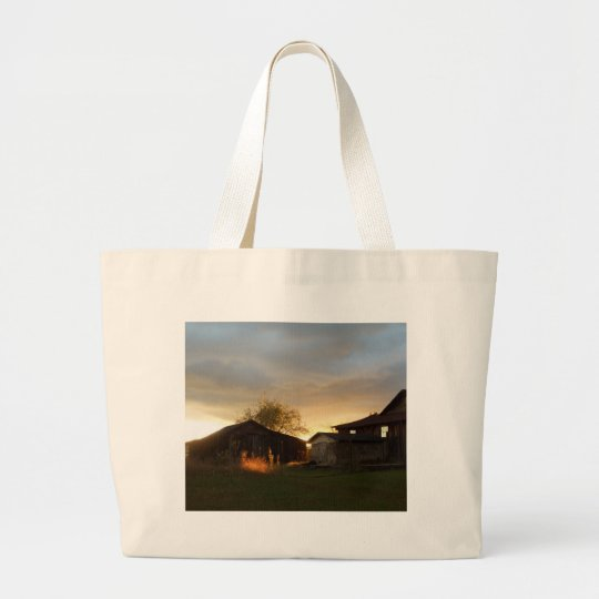 Barns in the Afternoon Sunlight Large Tote Bag