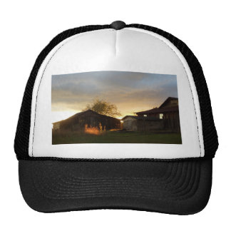 Barns in the Afternoon Sunlight Trucker Hat