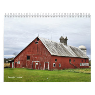 Barns In Vermont Calendar