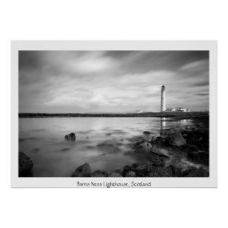 Barns Ness Lighthouse, Scotland Poster