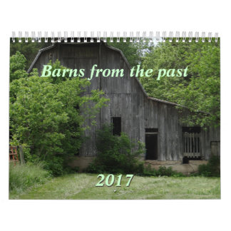 Barns of the Past 2017 Calendar-can change year Calendar