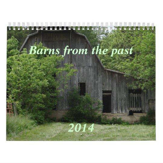 Barns of the Past Calendar- personalize Calendar