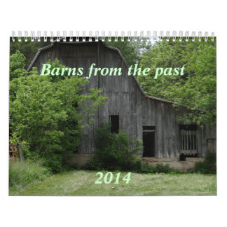 Barns of the Past Calendar- personalize Calendar