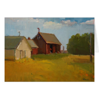 Barns on a Clear Day Greeting Cards