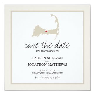 Barnstable Cape Cod Wedding Save the Date Card