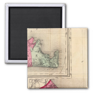 Barnstable, Dukes, Nantucket counties 2 Inch Square Magnet