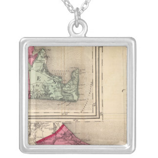 Barnstable, Dukes, Nantucket counties Silver Plated Necklace