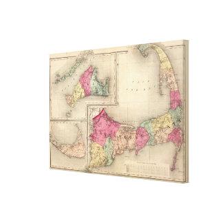 Barnstable, duques, condados de Nantucket Impresion En Lona