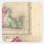 Barnstable, duques, condados de Nantucket Colcomanias Cuadradases