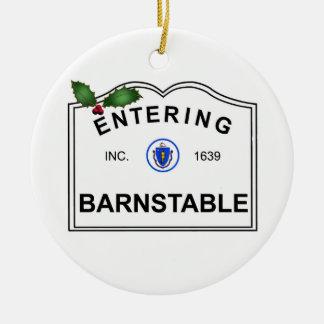 Barnstable MA Ceramic Ornament
