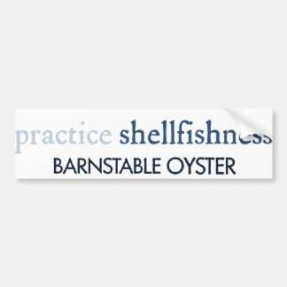 Barnstable Oyster Bumper Sticker