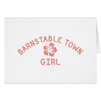 Barnstable Town Pink Girl Greeting Card