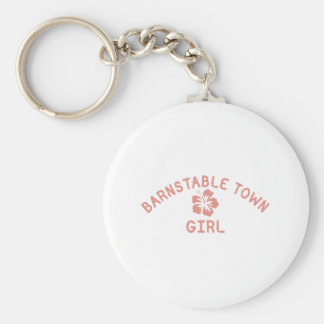 Barnstable Town Pink Girl Keychains