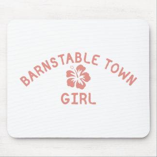 Barnstable Town Pink Girl Mousepad