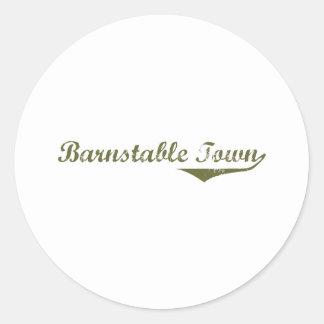 Barnstable Town Revolution tee shirts Round Sticker
