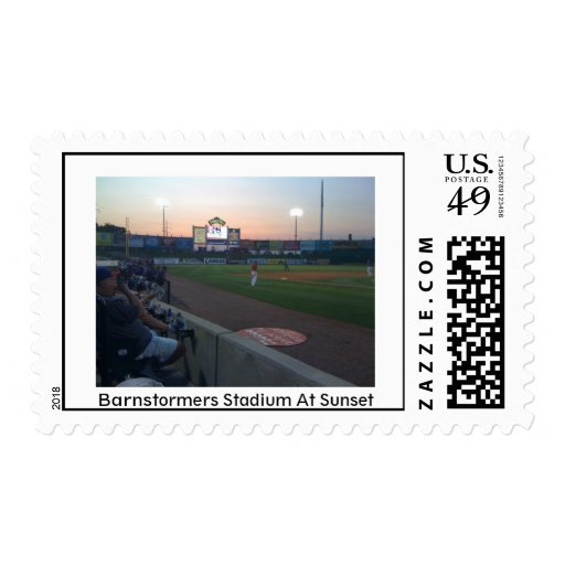 Barnstormers Stadium at Sunset Stamps