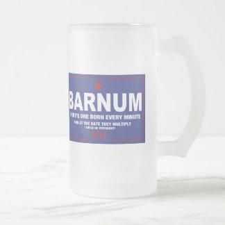 Barnum '16 frosted glass beer mug