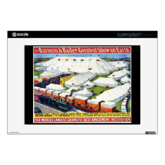 """Barnum and Bailey Circus 1899 Decals For 13"""" Laptops"""