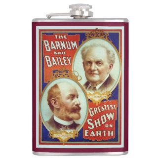 Barnum and Bailey Circus Greatest Show on Earth Hip Flask