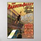 Barnum and Bailey Desperado's Leap for Life Poster